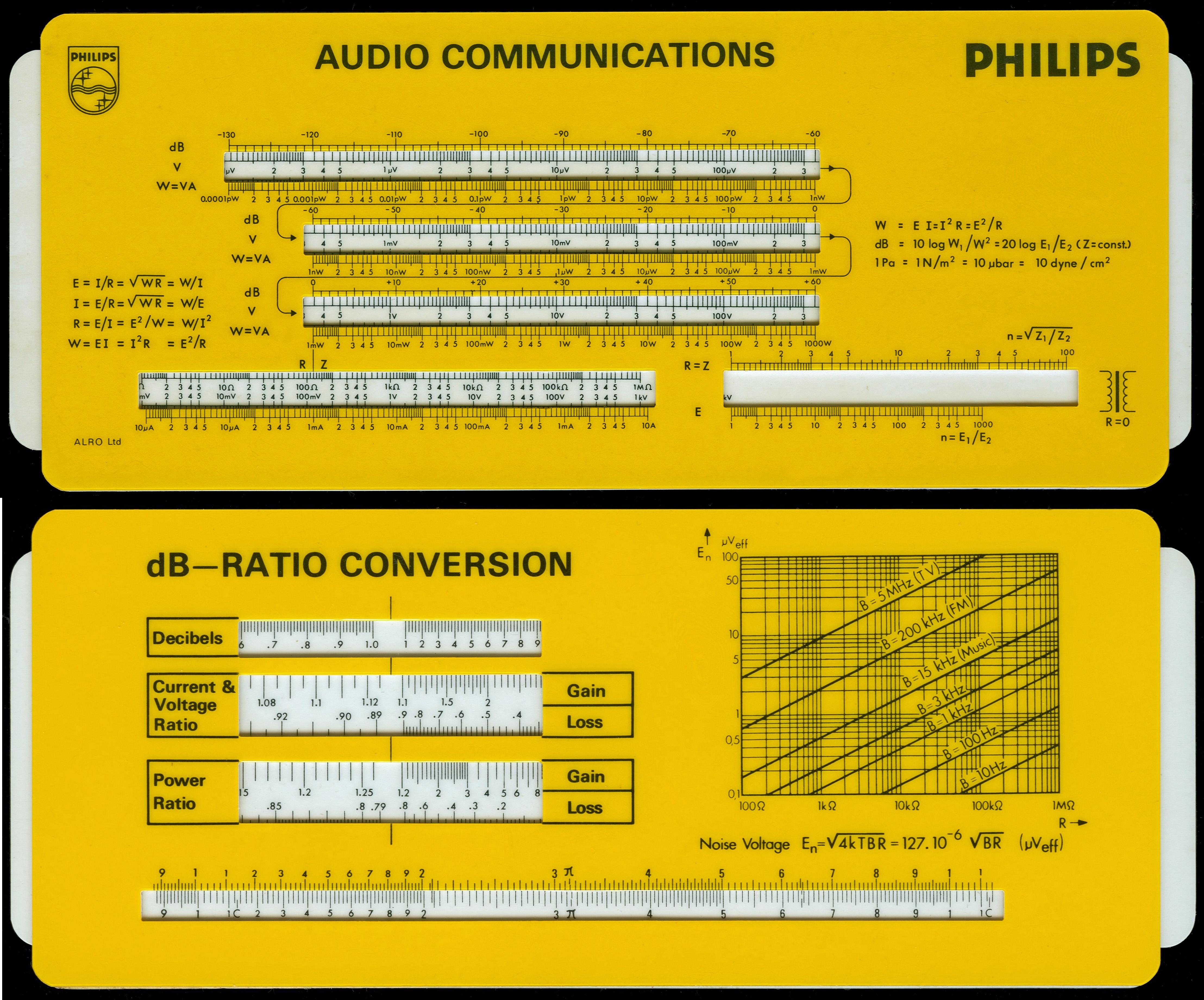 ALRO PHILIPS AUDIO COMMUNICATIIONS (AC-3.02) Electro/Conversion
