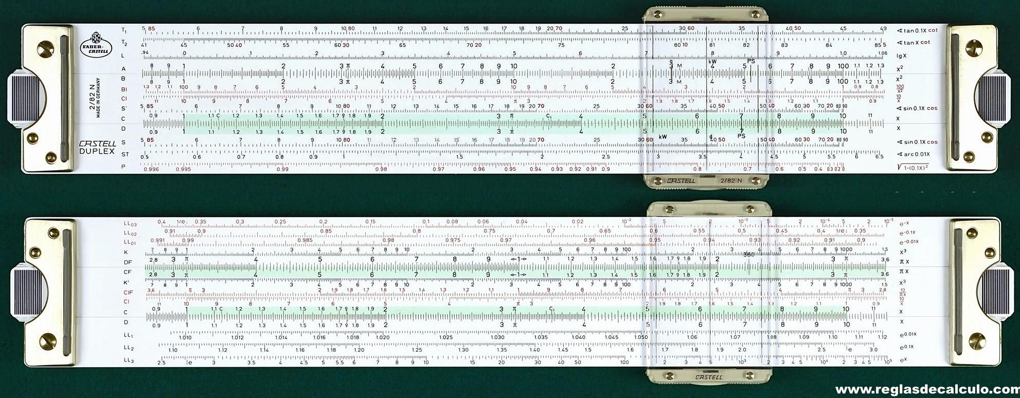 A.W. Faber-Castell 2/82N Technical/Log-Log