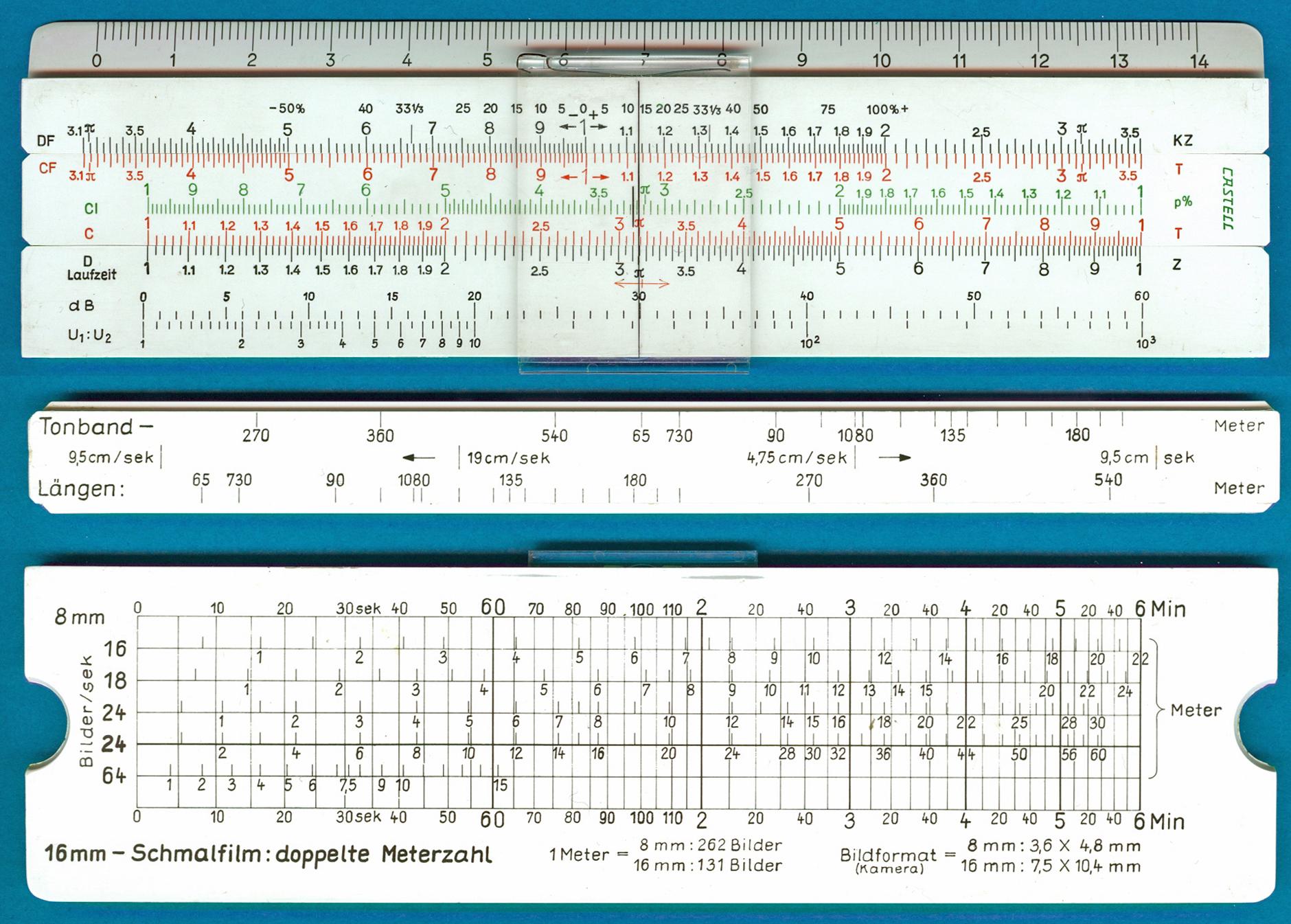 A.W. Faber-Castell BASF Tonband-Schmalfilm-Rechner