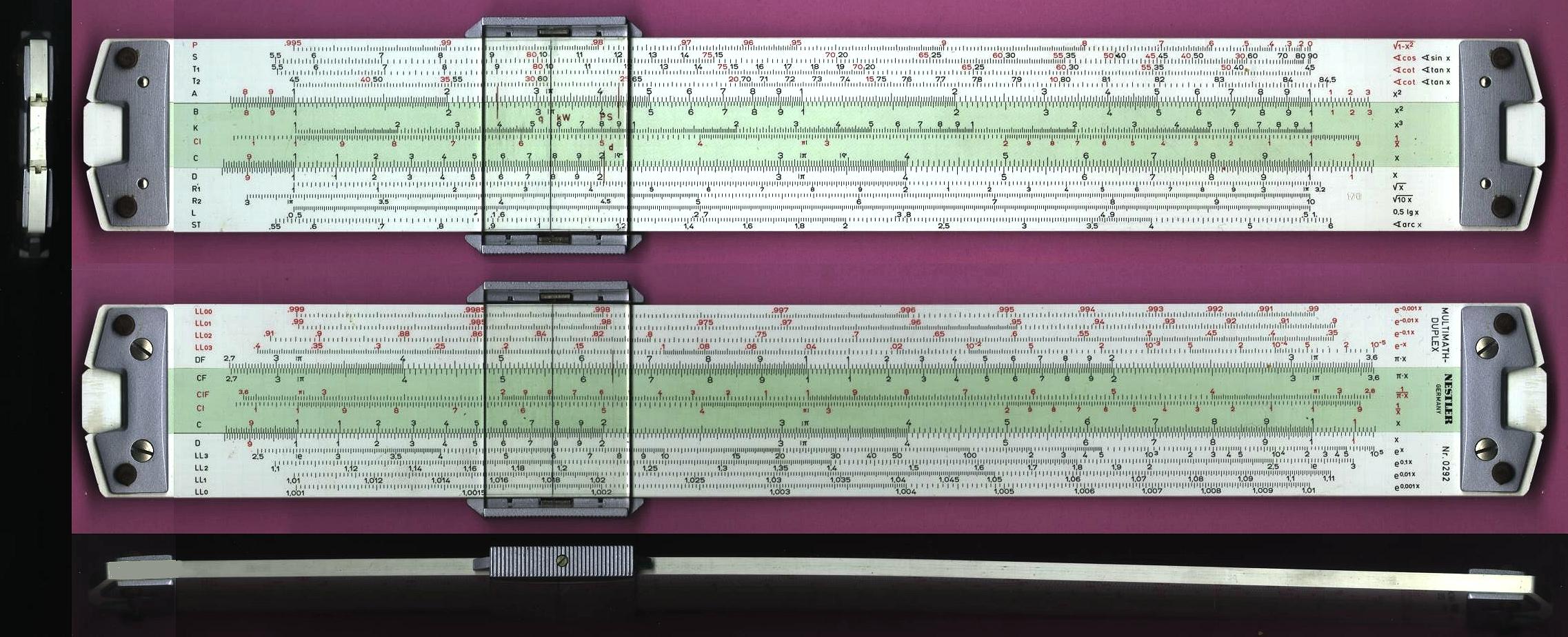 Nestler 0292 Multimath-Duplex Technical/Log-Log