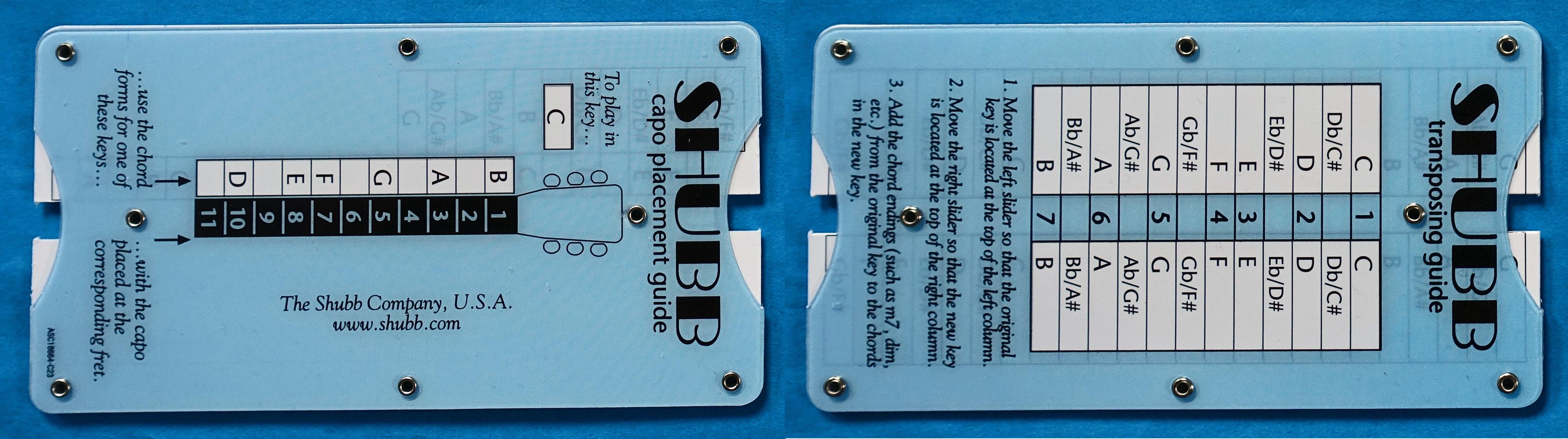 SHUBB TG1 Pocket Music Guitar Transposer