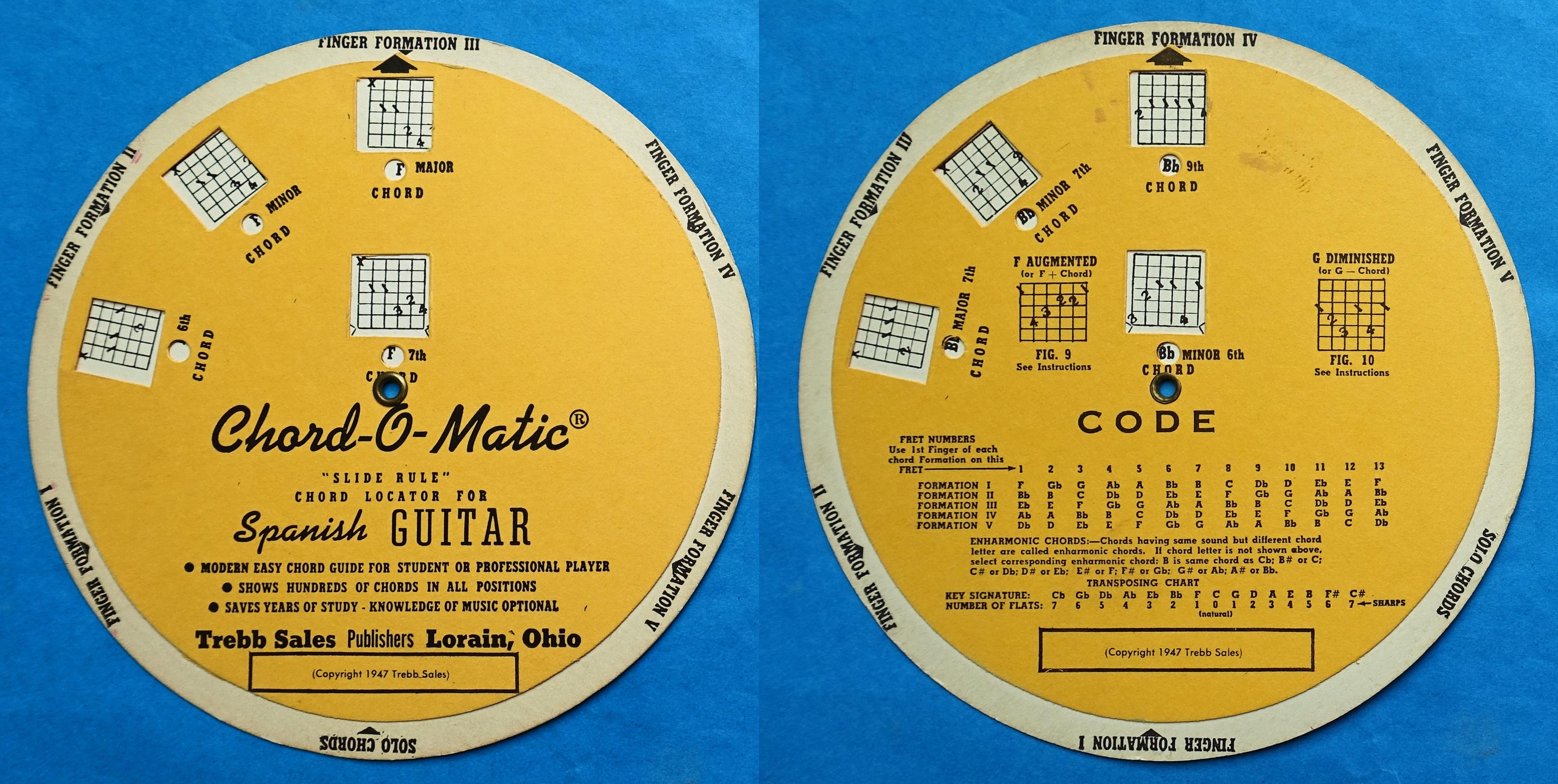 Trebb Sales Chord-O-Matic Music Guitar Chords