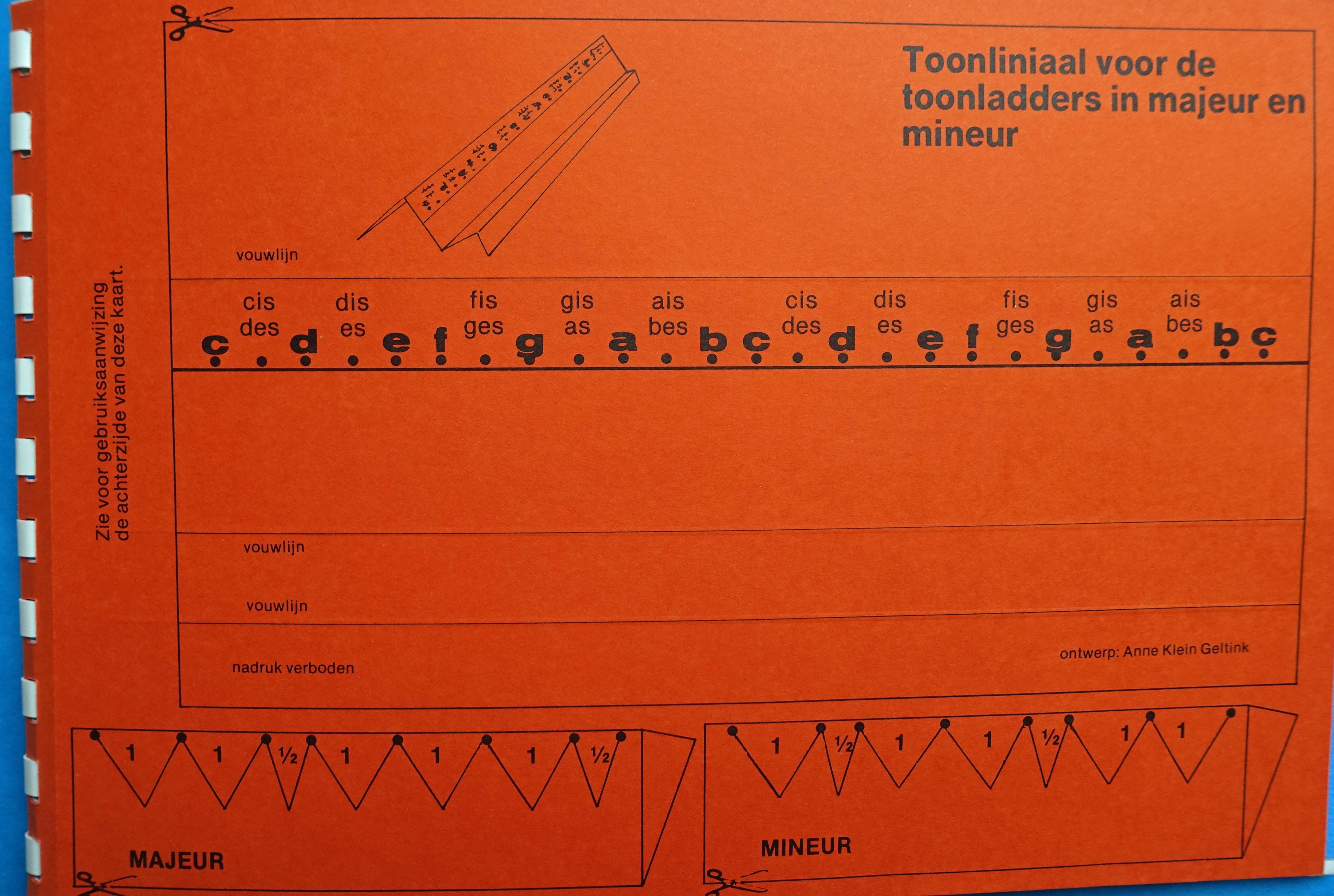 Uitgeversmaatschappij Interland Toonliniaal Book Music Scales