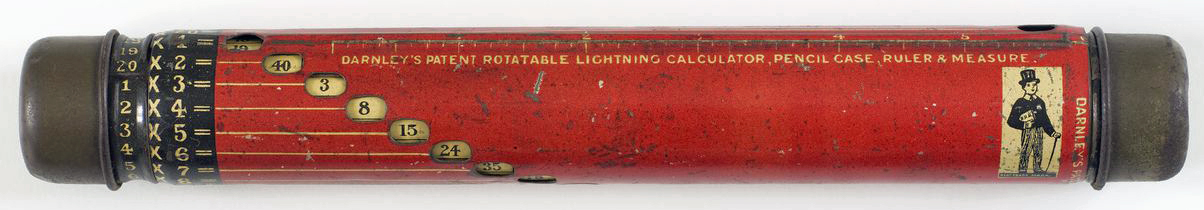 Unknown Darnley's Rotable Lightning Calculator Child's Multiplication Table Teaching Aid