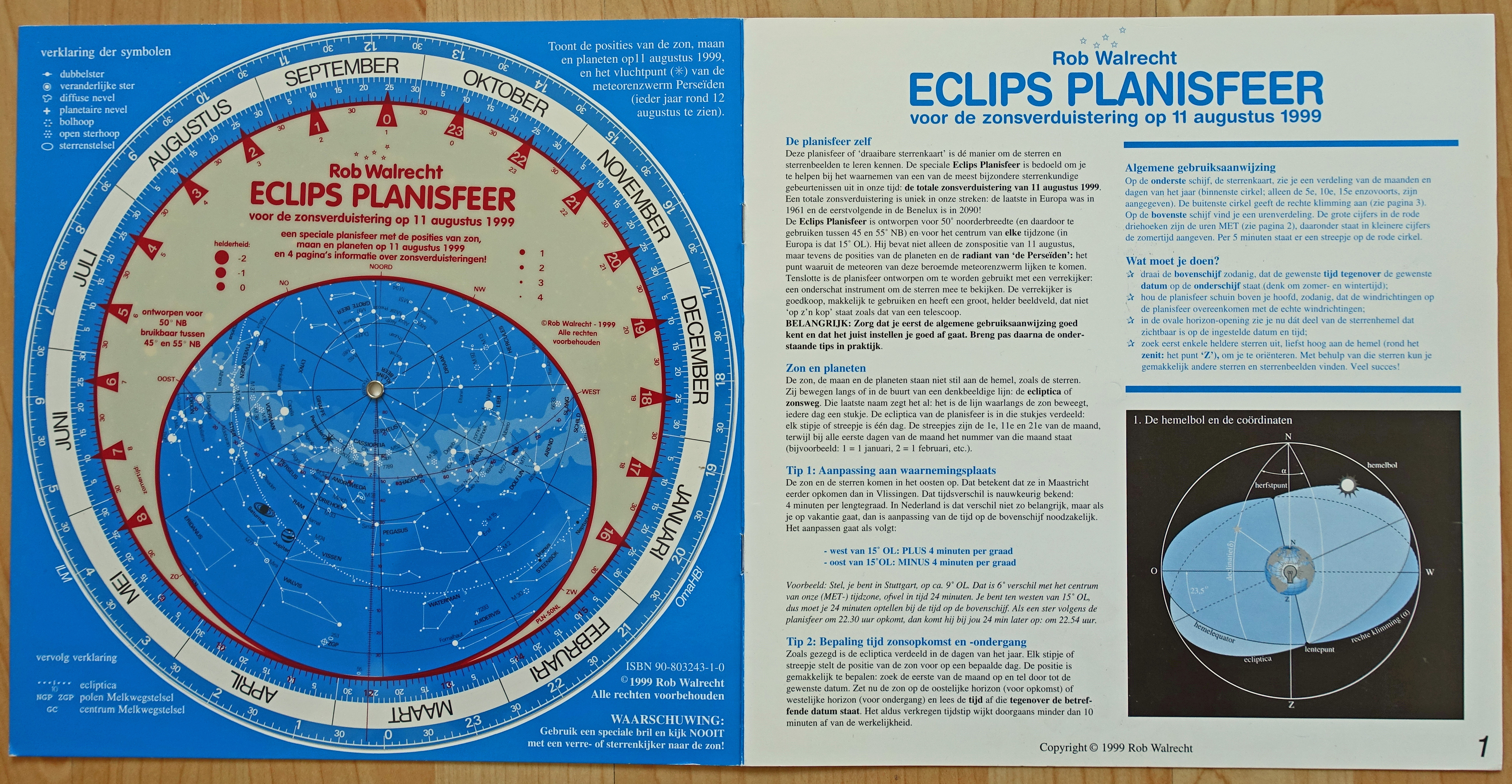 Unknown ECLIPS PLANISFEER Desktop Astronomy