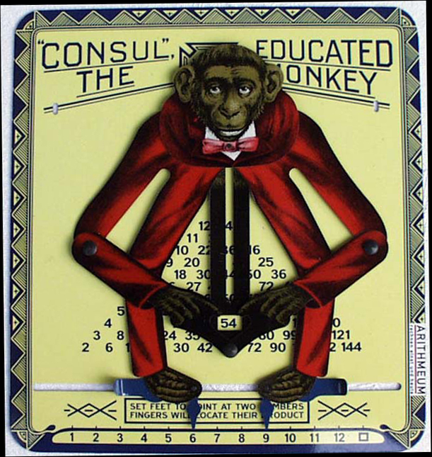 Unknown Consul The Educated Monkey Replica Child's Teaching Aid/Calculator